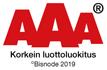 AAA Korkein luottoluokitus Bisnode 2019